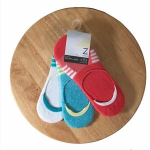 Zella 3 pack Sport Liner Socks No Show